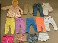 Baby girl summer bundle clothes 9-12 months shorts rain coat jeans