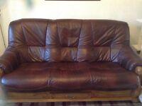 Leather 3piece suite