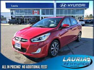 2015 Hyundai Accent GLS - Low kms - Sunroof / Bluetooth