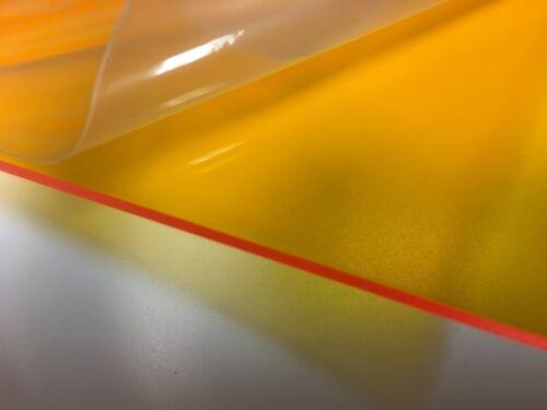 "Orange/Amber Transparent Acrylic Film Masking 1/8"" x 12"" x 12"" (Cell Cast)"