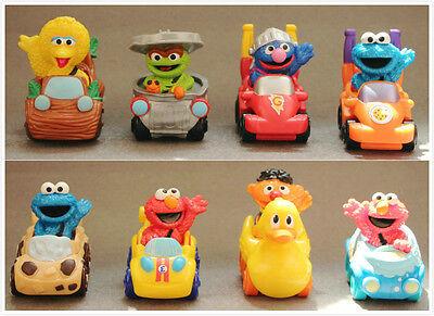 Big Bird And Grover (8pcs Sesame Street Elmo,Super Grover and Cookie Monster Big Bird Playskool)