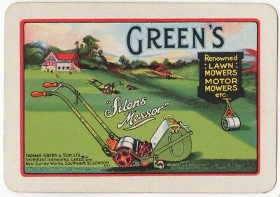 Playing Cards Single Swap Card Vintage Wide GREEN'S Lawn Mowers GOLF CLUB GREEN