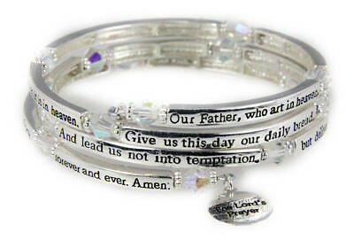 4030561 The Lord's Prayer Christian Stretch Bracelet Jesus Religious Christ