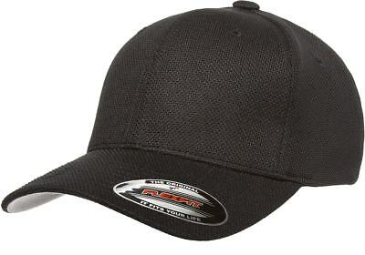 6577CD Flexfit Cool & Dry Pique Mesh Custom Hat Baseball Cap Flex Fit Fitted Lid Polyester Pique Mesh