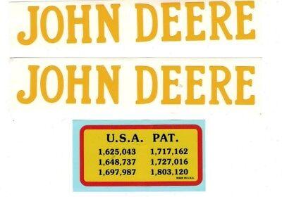 1.5 Hp John Deere Gas Engine Motor 3 Piece Decal Set Hit Miss Flywheel Antique