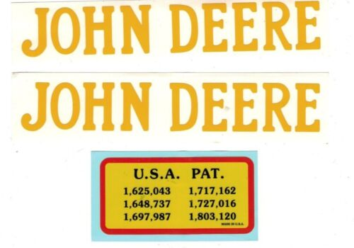 1.5 hp John Deere Gas Engine Motor 3 Piece Decal Set Hit & Miss Flywheel Antique