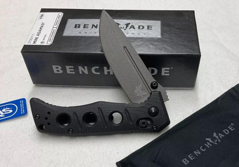 Benchmade 273GY-1  Mini Adamas Plain Drop Point Folding Knife Authorized dealer