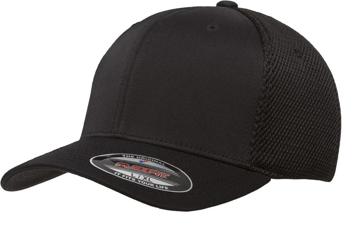 Flexfit 6533/T Baseball Cap Fitted Air Mesh Flex Fit Plain B