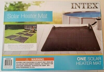 New Intex 28685E Above Ground Swimming Pool Water Heater Solar Mat Prism Ultra
