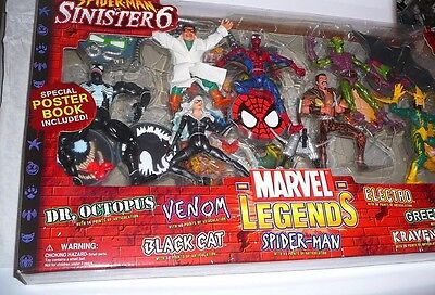 "MARVEL LEGENDS SPIDER-MAN SINISTER SIX BOX SET 6"" FIGURES VENOM KRAVEN DOC OCK"