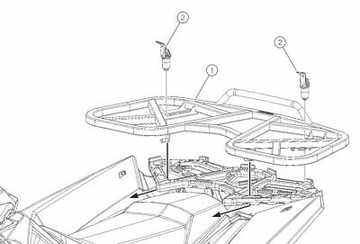 2014-2020 Polaris Scrambler 850 1000 Large Rear Luggage