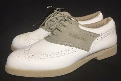 Wilson ProStaff Golf Shoes Women's Size 8.5 White Beige NWOB GS361