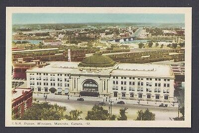 Ca 1940 POST CARD CANADIAN NATIONAL RAILWAY STATION MINT $18.95 -