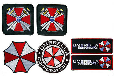 Resident Evil Umbrella CORPORATION Costume [Set of 6] patches 6 pc patch
