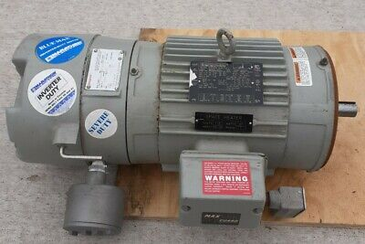 Marathon 5hp 3 Phase Marine Severe Duty Brake Motor Wspace Heater 1 18 Shaft