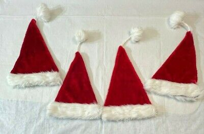 4 Preowned Christmas Hats Size S-M-L