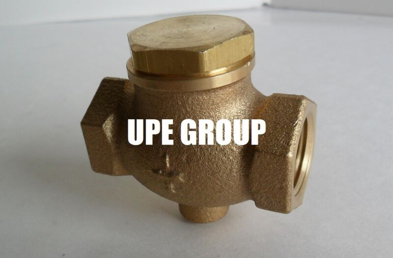 "New 1/2"" CAST brass horizontal check valve air compressor in line vertical"