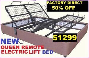 NEW QUEEN ELECTRIC LIFT BED QUEEN REMOTE CONTROL. RENTAL OPTION Ipswich Region Preview