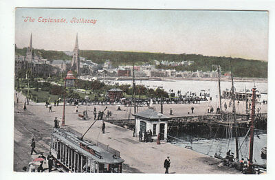 The Esplanase Rothesay Isle Of Bute Pre 1911 Valentines Old Postcard Unposted