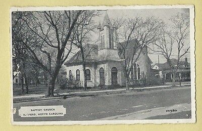 Vintage Postcard Baptist Church, Raeford, North Carolina