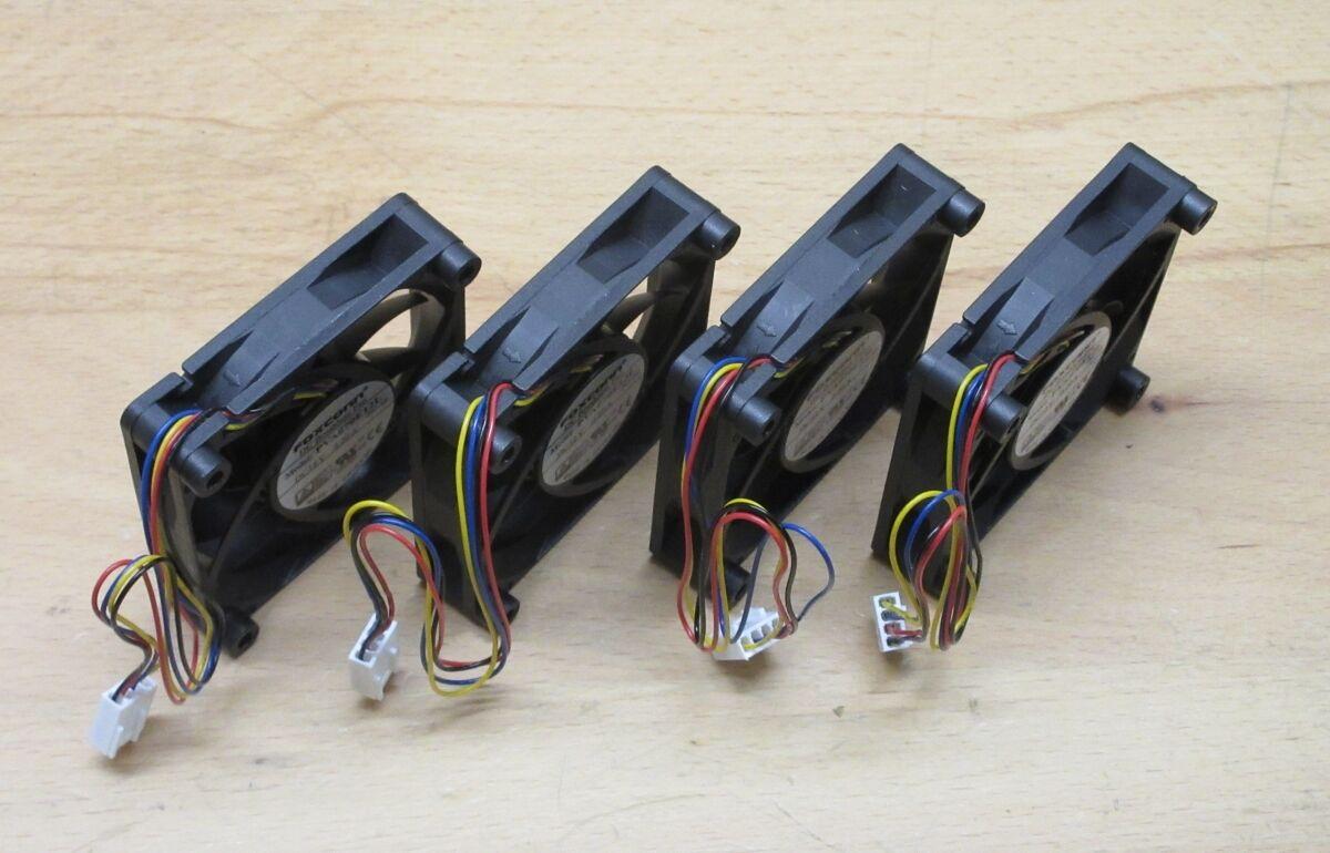 4 Stück Lüfter , 70 mm , 12 V , 4 pol , Gehäuse, CPU, Kuehler, PWM - NEU
