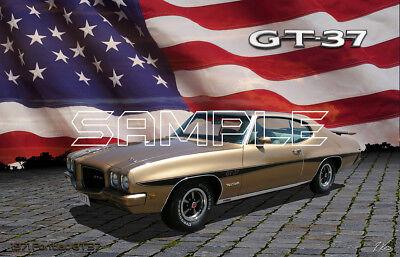 1971 Pontiac Gt37 American Muscle Print