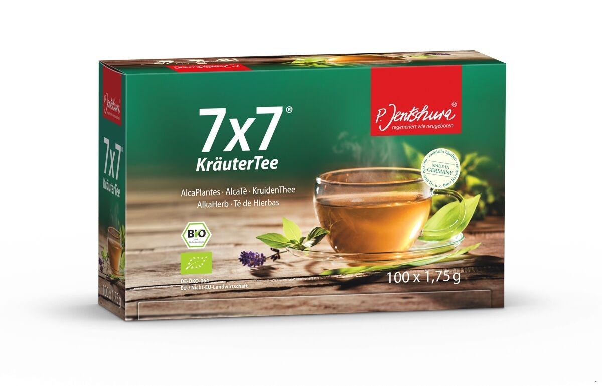 Jentschura 7x7 KräuterTee BIO 100 Beutel á 1,75g (13,68EUR/100g)+ 2 wählb.Proben