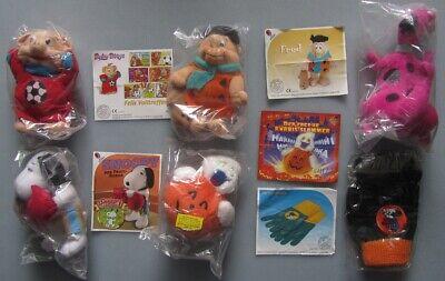 Plüschfiguren Maxi-Ei / Kinder Freude Sammlung: Feuerstein, Snoopy,  Halloween