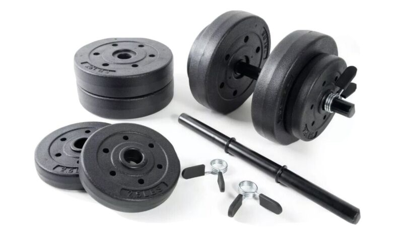🔥CAP BARBELL 40-POUND ADJUSTABLE VINYL DUMBBELL WEIGHT SET 40Lb FAST SHIPPING🔥