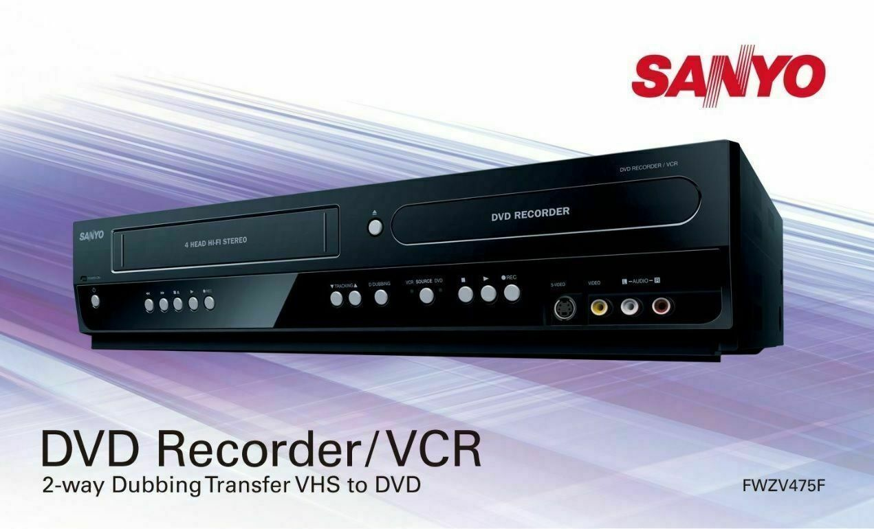 SANYO INSTANTLY CONVERT VHS TAPES to DVDs VCR PLAYER RECORDE