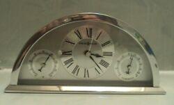 Howard Miller Weatherton Weather and Maritime Quartz Alarm Table Clock w/battery