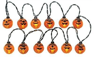 Lemax Spooky Town 12 Lighted Pumpkin Garland String