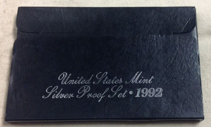 1992 US Mint Silver Proof Set - Original Box and COA
