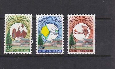 NORFOLK ISLANDS 1989 RADIO AUSTRALIA ANNIV MNH SET OF STAMPS