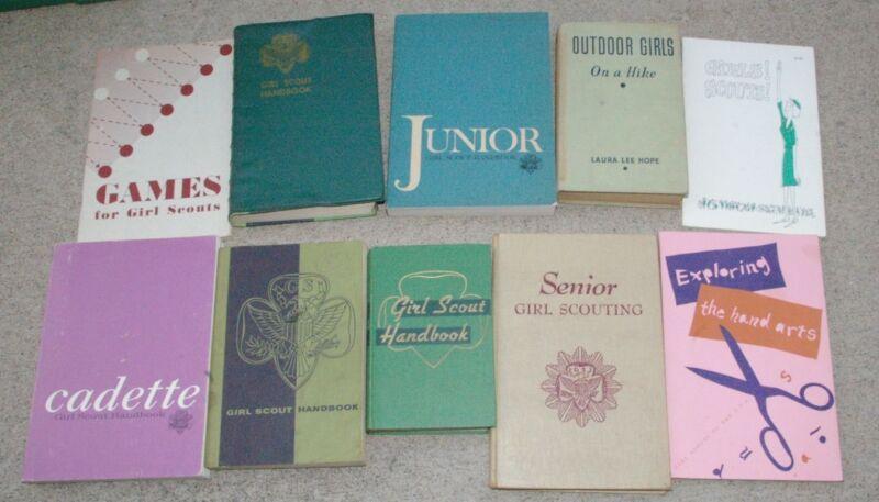 10 1952-1968Vintage Girl Scout Publications Guides Manuals etc