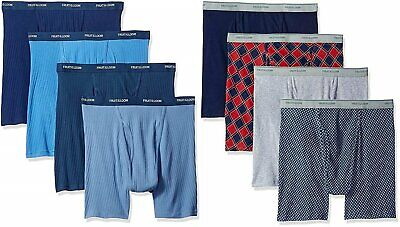 Fruit of the Loom Men's Boxer Briefs Sizes 2X-3X 8-Pack Asso