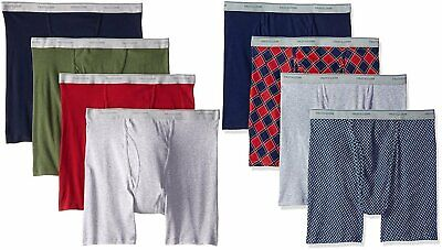 Fruit of the Loom Men's Boxer Briefs Sizes 2X-3X 8-Pack Assorted Cotton 2 Pack Cotton Boxer