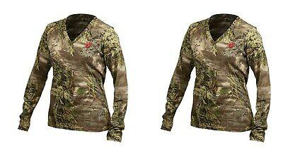 98f7890f474d6 (2) Scent Blocker Womens Fused Cotton L/S T-Shirt Max1 Camo Size: Small  (LCLT)