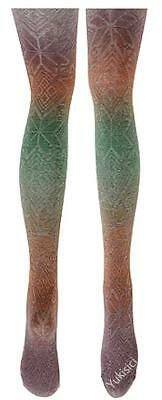 Vivienne Westwood Japan Stirrup Tights Color Gradient Ethnic Pattern-Size M-L