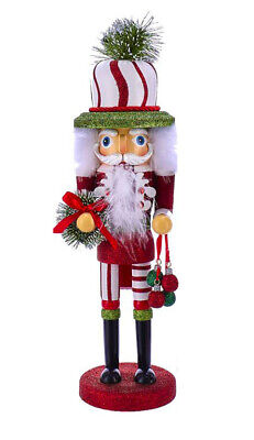 "[Kurt Adler Hollywood Nutcracker - Red, Green, & White PIne Hat Nutcracker 17"" </Title]"