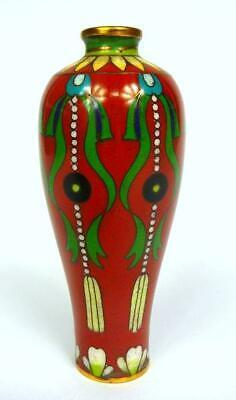 Rare Enamel Vase Japan 1900 Bronze