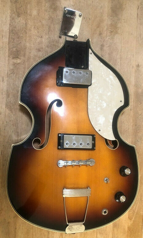 Vintage Vox Violin Bass Guitar Body With Electronics - $128.50