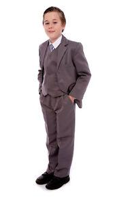 Boys Formal Suit Black or Grey 5 piece  Age
