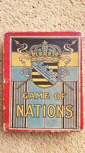 Very RARE Antique card Game of Nations by Canada Games Co Ltd