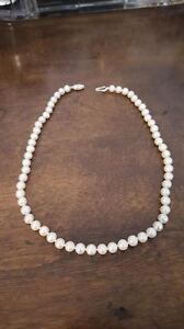 """Fresh Water Pearl Necklace - 16"""""""