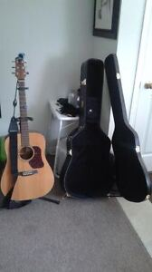 Guitar and accessories for sale.