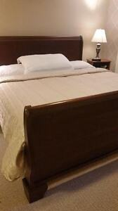 King Sleigh Bed with premium matress and box make an offer