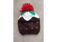 Women's Christmas Xmas pudding hat