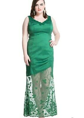 Hot Poison Ivy Costume (POISON IVY DC HOT TOPIC GREEN womens PLUS SZ 14 DRESS halloween costume cute)