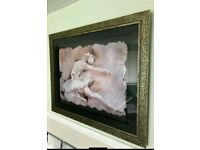 Stunning 'Dying Swan' large picture on stone
